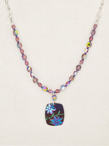Purple Meadow Beaded Necklace