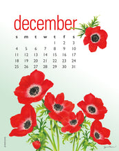 Load image into Gallery viewer, 2021 Flowers Calendar 5 X 7