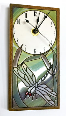 Bulrush Dragonfly Clock