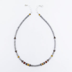 Hematine and Citrine Necklace