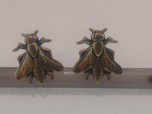Brass Bee Cufflinks