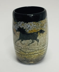 Drinkig Cup Black Horse