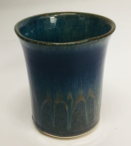 Utensil Holder Amber Blue