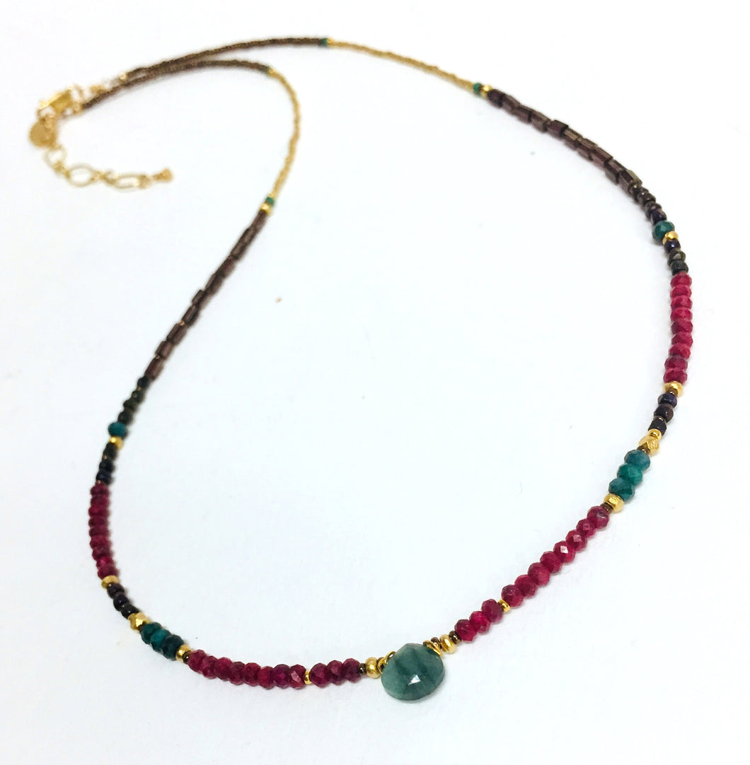 Necklace Enerald Ruby