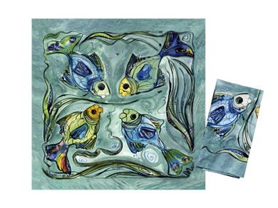 Pair of Fish Napkins