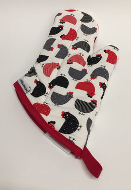 Oven Mitt With Chickens