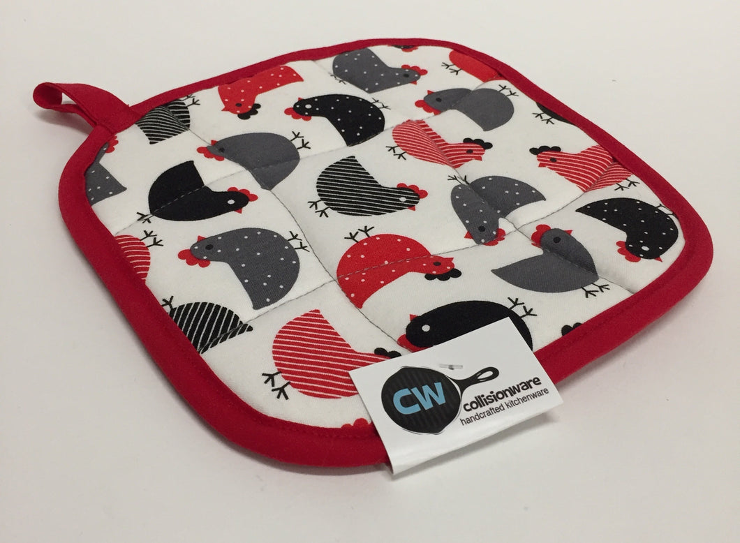 Potholder with Chickens