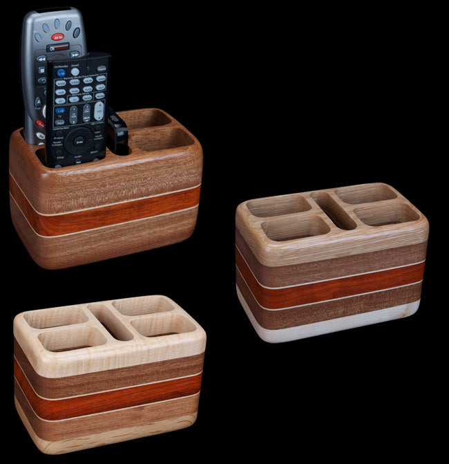 Hardwood Remote Control Holder