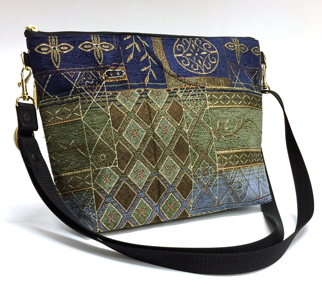 LARGE ZIPPER PURSE NEPTURNE/BLUE