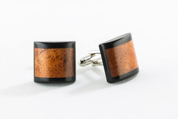 Rosewood and Ebony Cufflink