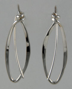 Hand Forged Oval Loop Wrap Earrings