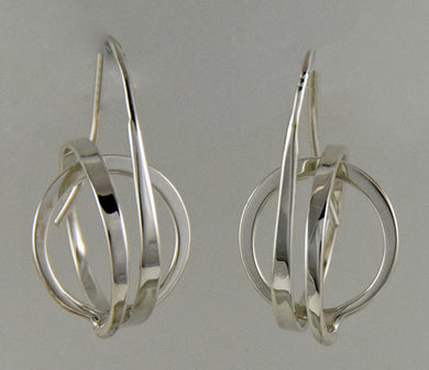 Twisted Circle Earrings With French Back