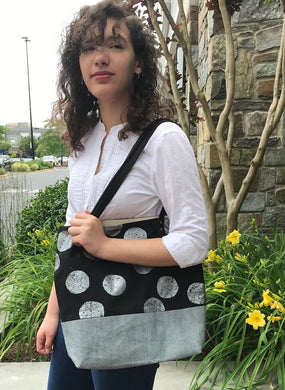 Tote. Silver Moons/Rever Denim