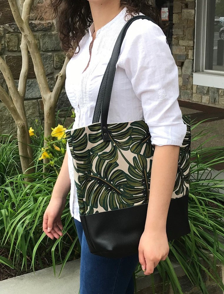 Tote. Monstera/BL Leather
