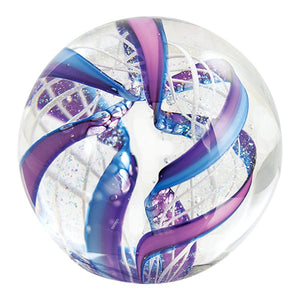 Marbleweight, Purple/Blue Latticino