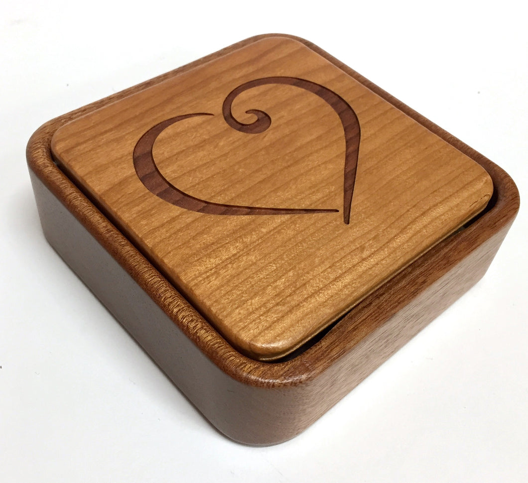 Heart Flip Top Box, With Photo Frame