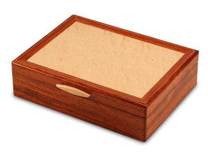 Bubinga Jewelry Box With A Sapphire Interior