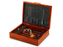 Load image into Gallery viewer, Bubinga Jewelry Box With A Sapphire Interior
