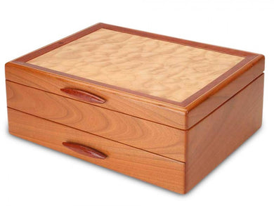 Cascade I 1 Drawer Jewelry Box Saphire Lining