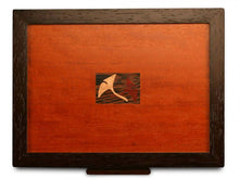 Load image into Gallery viewer, 2 Drawer Jewelry Box in Sapele With Ginko Leaves Inlayed On Lid