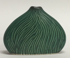 Carved Bud Vase Green