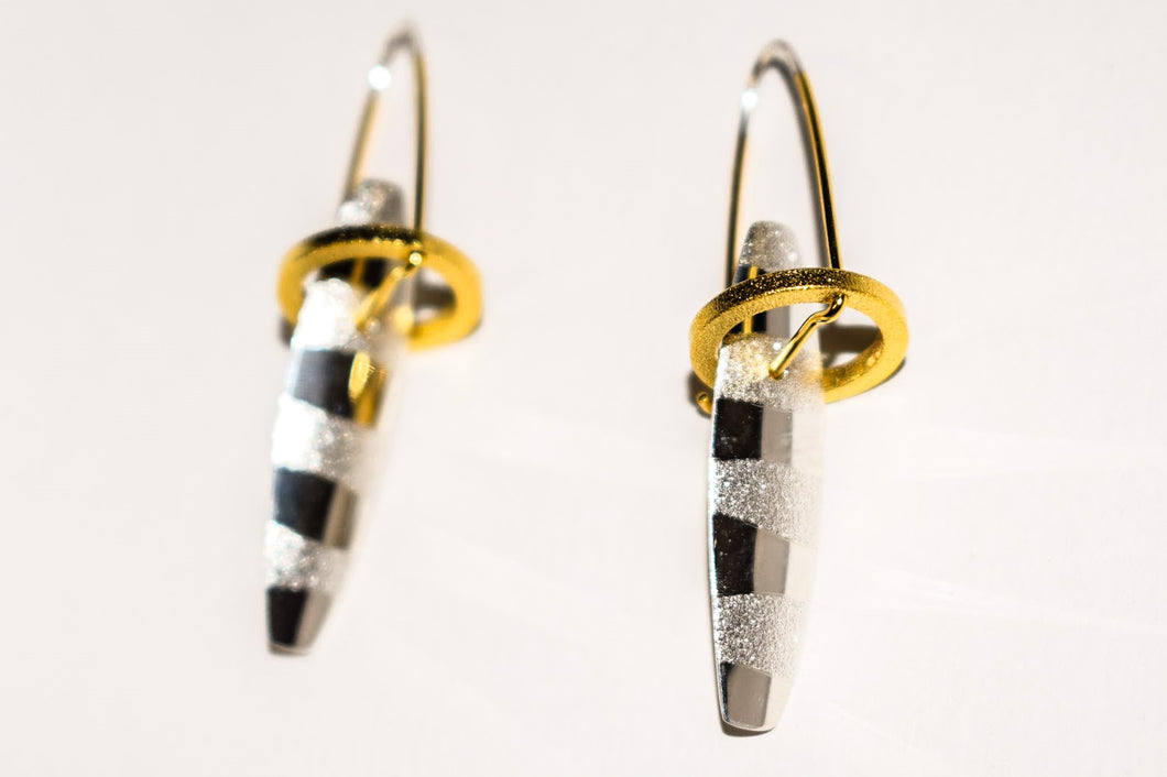 Halo Earring in Sterling Silver With 18k Gold Vermeil