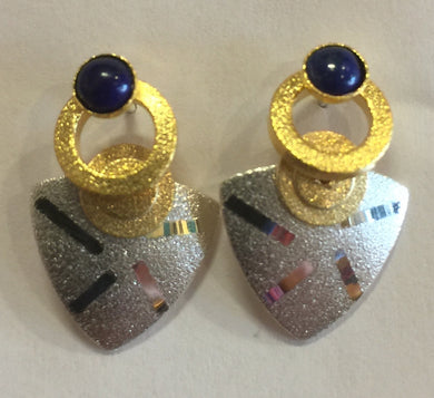 Lapis Sterling and Vermeil Post Earrings