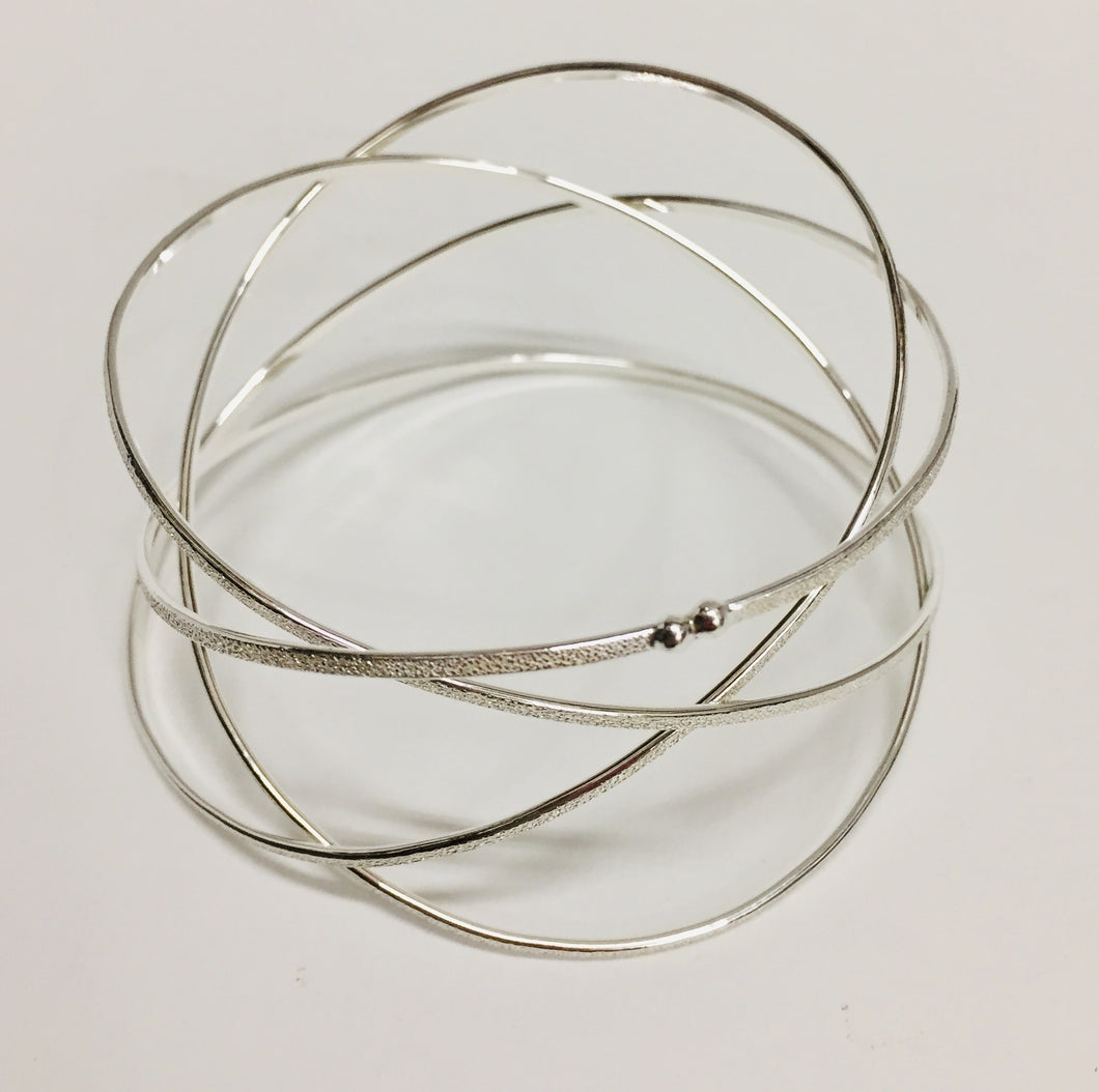 Orbit Wrap Bangle Sterling Silver