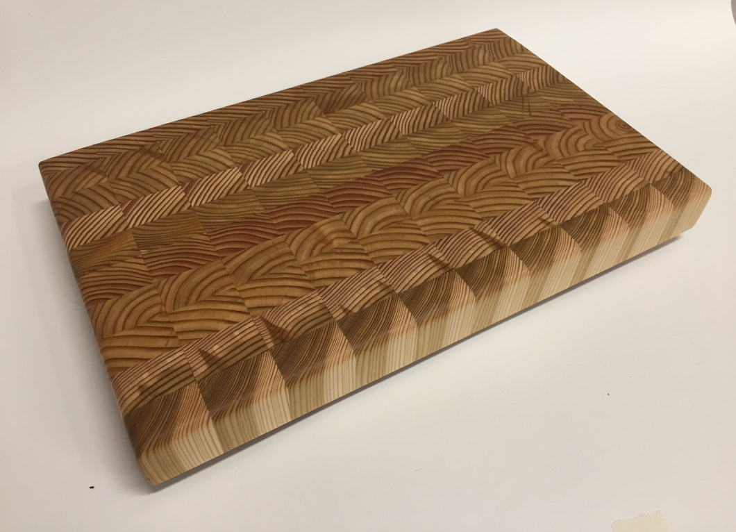 End Grain Larchwood Cutting Board