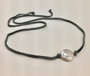 Necklace Fresh Water Pearl Coin Choker
