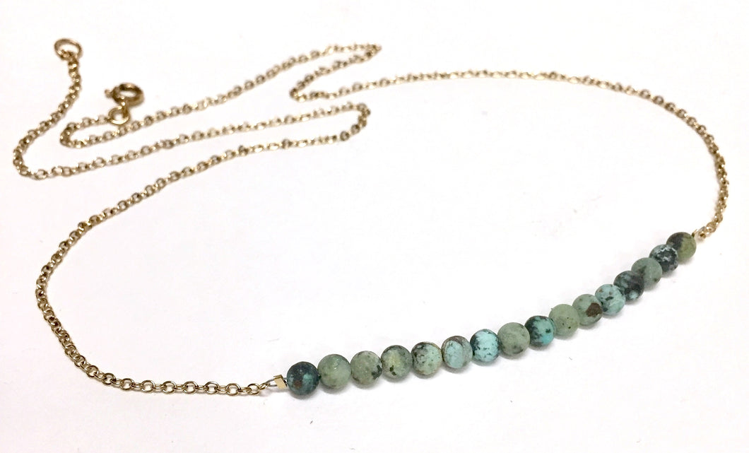 Turquoise Necklace With Goldfilled Chain