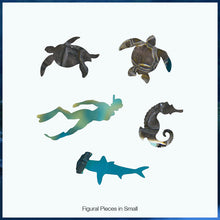 Load image into Gallery viewer, Mosaic Sea Turtle Small Puzzle