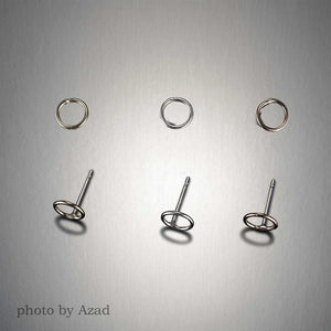 Small Sterling Silver Circle Post Earrings