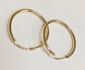 Earrings, Gold Filled Hoops