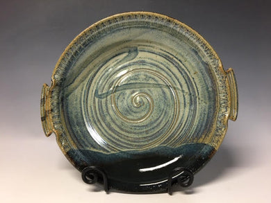 Blue Platter With Handles