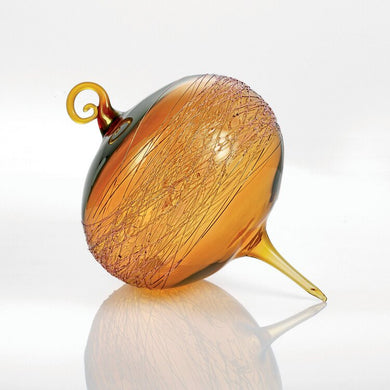 Gold Honey Amber Wrap Ornament