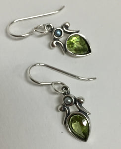 Earring Sterling Silver With Peridot