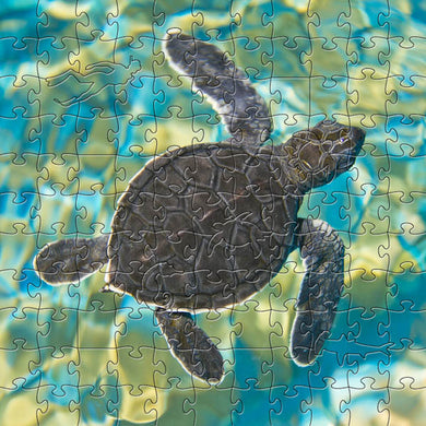 Mosaic Sea Turtle Small Puzzle