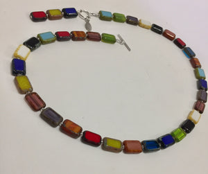 Glasws Bead Necklace Trilogy Rainbow