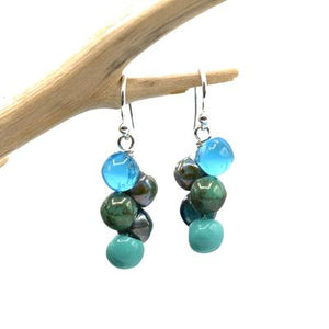 Glass Bubble Earring in Turquoise