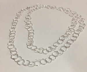 Neck, Ster Silver Cut SM Circle Links
