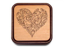 Load image into Gallery viewer, Floral Flip top Heart Box