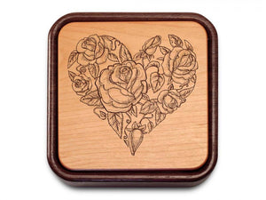 Floral Flip top Heart Box