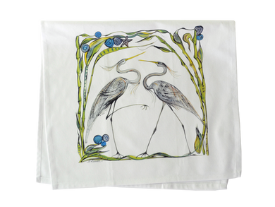 Heron Tea Towel
