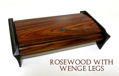 Rosewood Desk Box With Wenge Legs and shell Inlay