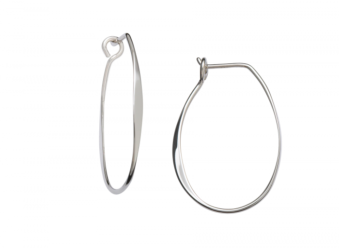 Medium Sterling Silver Olivia Hoop Earing