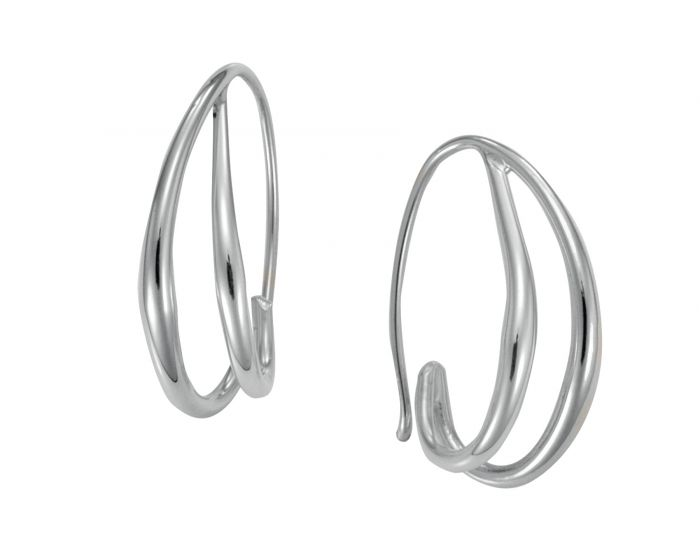 Duo Hoop Earring Sterling Silver