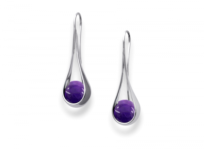 Captivating Earring Amethyst Silver