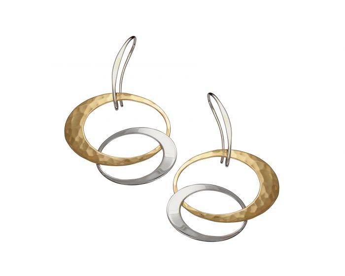 Entwined Elegance Earring Small Silver with 14K Gold Overlay
