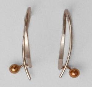 Sterling Earrings With 14K 3MM Ball French Back